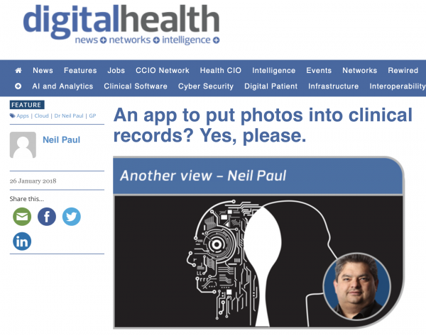 An app to put photos into clinical records? Yes, please.
