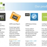 Screenshot of Niche Health products page