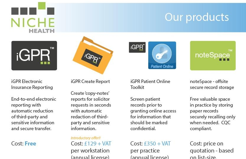 Niche Health adds some nice apps to help with GDPR