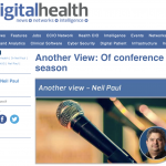 My latest digitalhealth.net blog: conference season