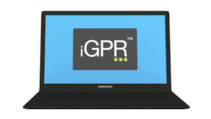 iGPR logo image on a laptop