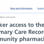 NHS Digital reports that community pharmacists now have better access to SCR