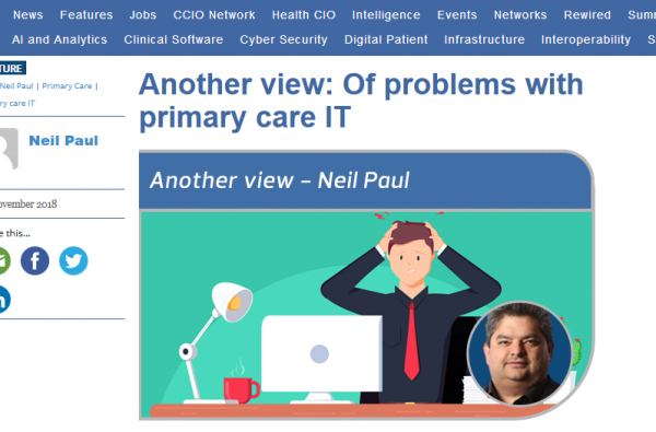 Of Problems with Primary Care IT