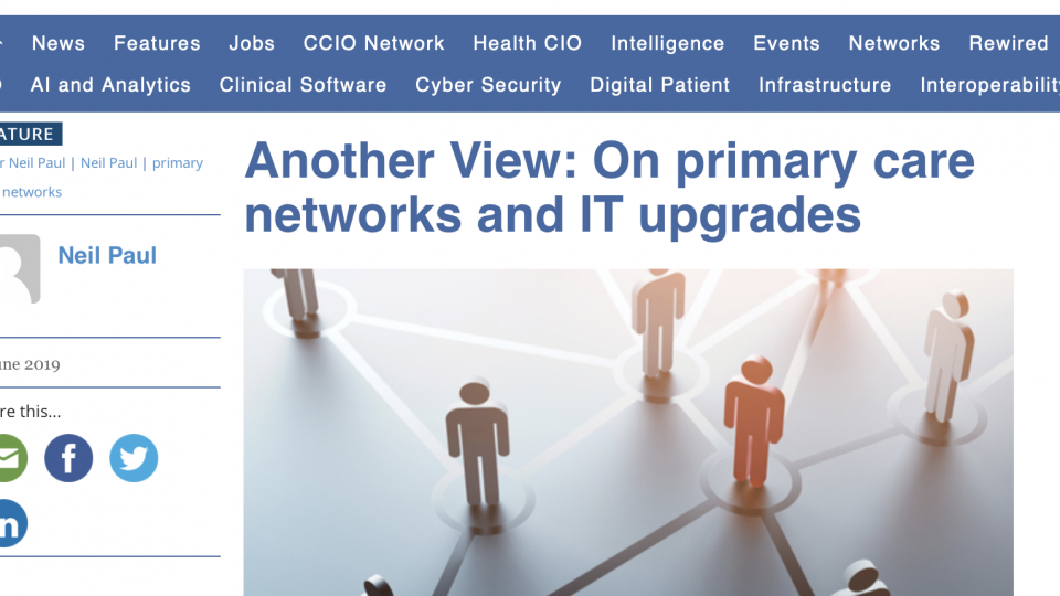 On primary care networks and IT upgrades