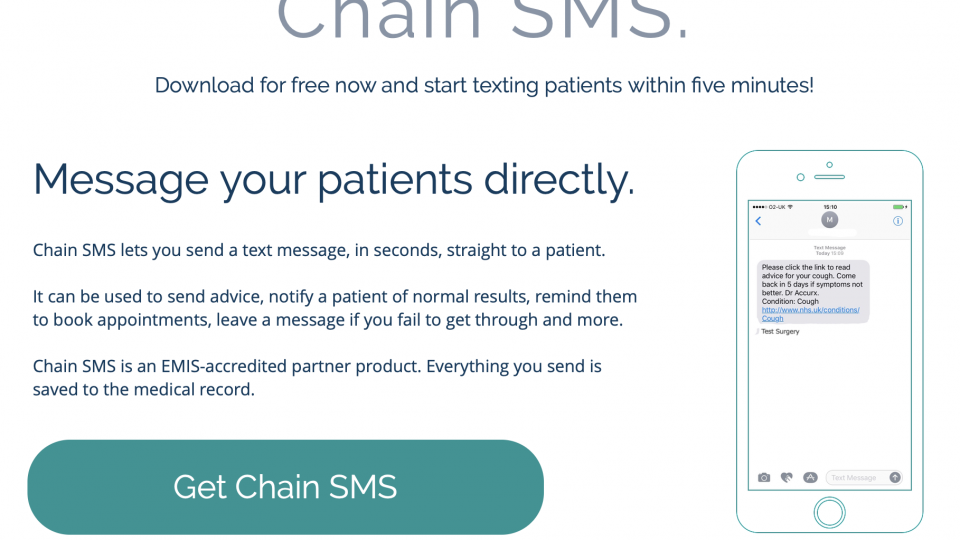 AccuRx Chain SMS keeps getting better!