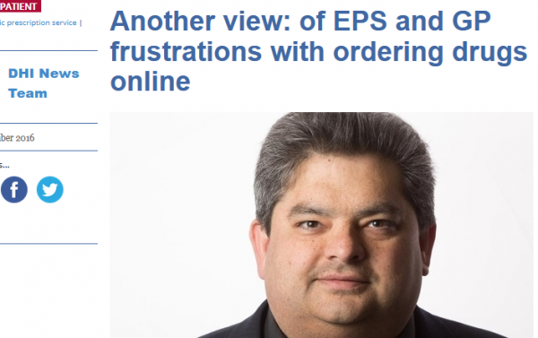 of EPS and GP Frustrations with Ordering Drugs Online