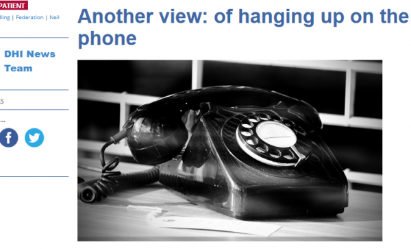 of Hanging up the Phone
