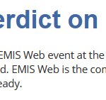 My verdict on Emis Web