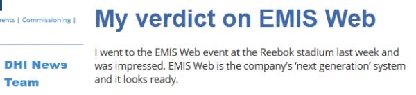 My verdict on Emis Web