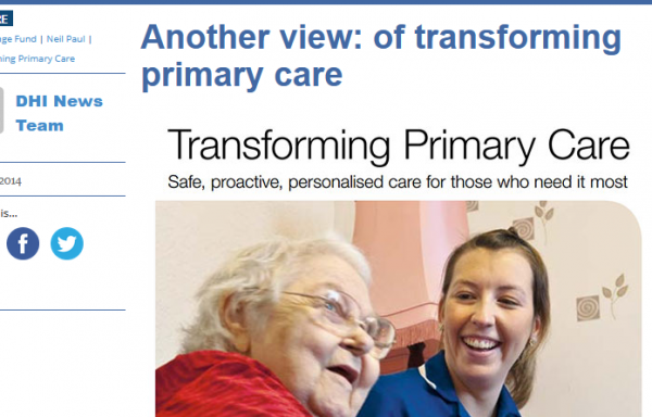 of Transforming Primary Care
