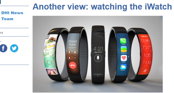 Watching the iWatch