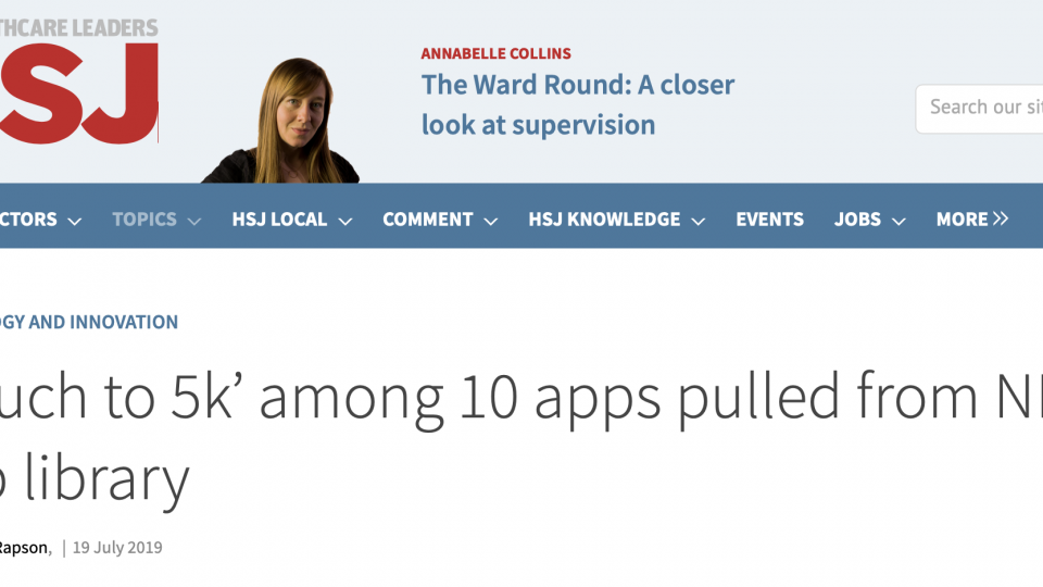 NHS App Store clamp down?