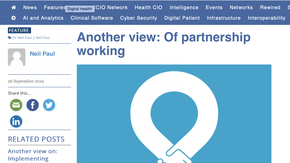 Of partnership working
