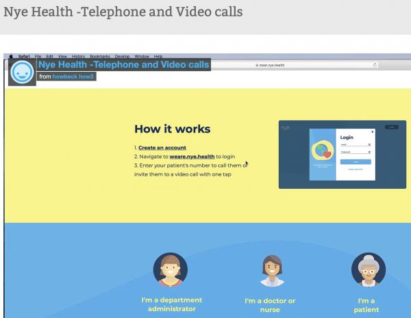 Using Nye Health's App