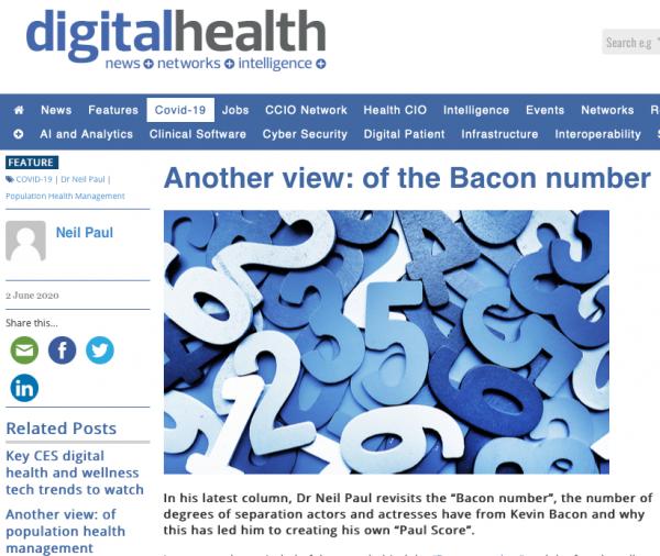My latest DigitalHealth.net column: The Paul Score!