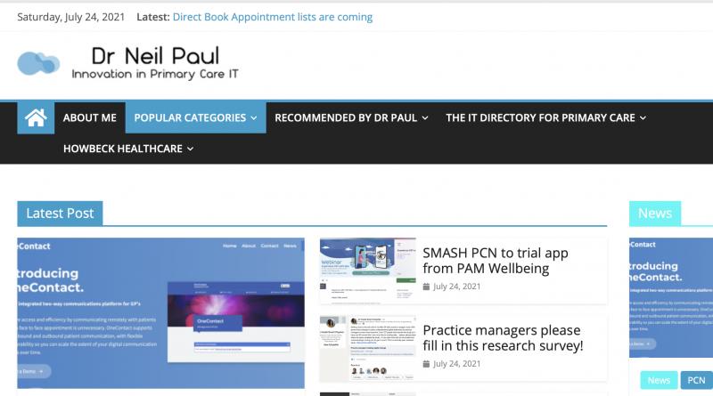 Screenshot of Dr Pauls Blog