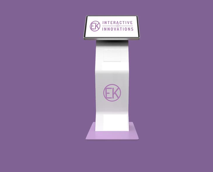 Health Kiosk on a purple background
